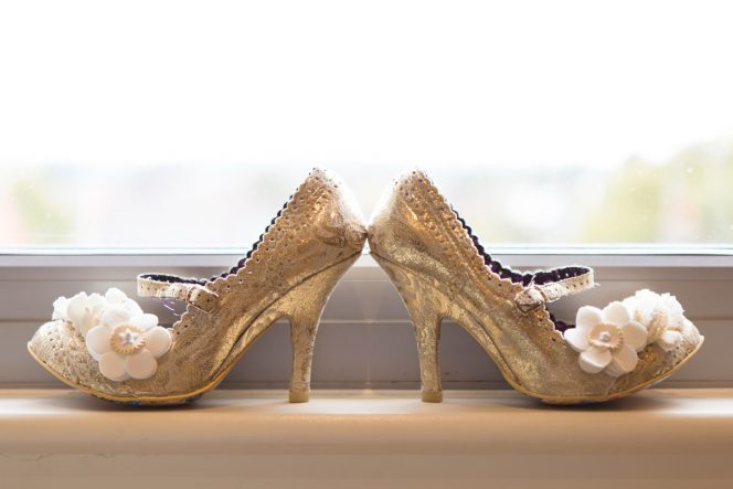 Wedding Bridal Shoes / Photo By Jeff Turnball