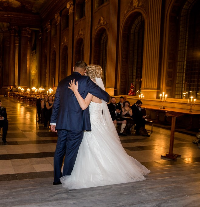 Wedding Ceremony, Painted Hall, Greenwich, London / Photo: Gomes Photography