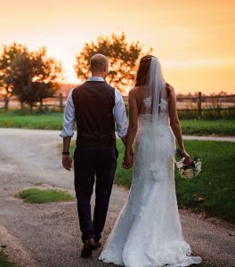 Wedding day sunset / Photo by: Leah Van Zyl