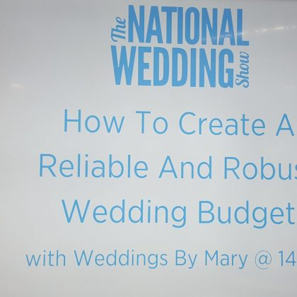 National Wedding Show Guest Speaker