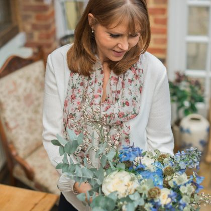 Mary Briscoe wedding planner with Floral bouquet by Poppies Designer Flowers / Photo: HJ-Photography.co.uk