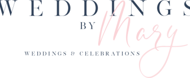 Weddings By Mary, experienced & professional wedding planner, logo