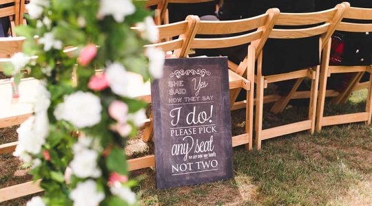 Choose a seat not a side wedding seating / Photo by Sophie Oldhamstead photography